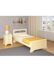"""Кровать """"Лира с ковкой эмаль"""""""