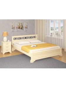 """Кровать """"Лира с ковкой эмаль"""" массив дерева: Сосна, Береза, Бук, Дуб. Возможно изготовление по вашим размерам. Гарантия: 12 месяцев. Срок изготовления: 5-10 рабочих дней. (Узнать подробнее)"""